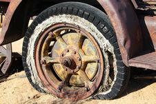 Free Brown Spoke Car Wheel In Brown Sand During Daytime Royalty Free Stock Photo - 82988655