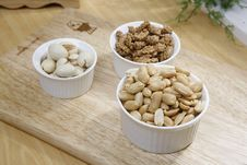 Free Brown Nuts On White Ceramic Bowl Royalty Free Stock Image - 82988826