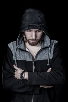 Free Portrait Of Man In Hoodie Royalty Free Stock Photography - 82988937