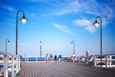 Free People On The Pier Stock Photo - 82990060