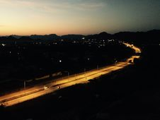 Free Highway At Sunset Royalty Free Stock Photos - 82990308