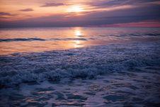 Free Sea Waves During Sun Set Stock Image - 82990831