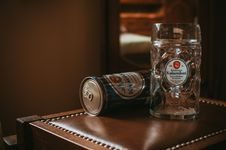 Free Kaiserdom Beer Stein And Can Royalty Free Stock Images - 82991639