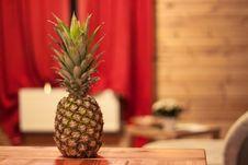 Free Fresh Pineapple On Table Stock Image - 82992001