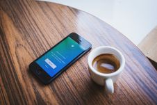 Free Smartphone And Coffee Cup Stock Images - 82992364