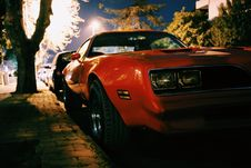 Free Red Classic Muscle Car Royalty Free Stock Photography - 82992827