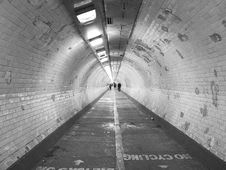 Free People In Tunnel Stock Images - 82993584