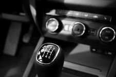 Free Black Car Panel And Car Shift Gear Stock Image - 82993981