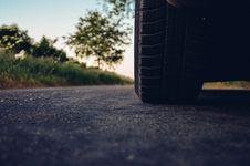 Free Car Tire On Asphalt Stock Image - 82994001