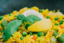 Free Rice And Vegetables Stock Photo - 82994020