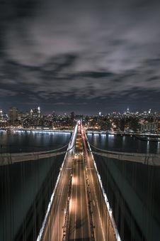 Free Bridge Under Grey Cloudy Ski During Night Time Stock Image - 82994581