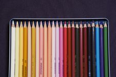 Free Set Of Colorful Pencil Crayons Royalty Free Stock Images - 82994649
