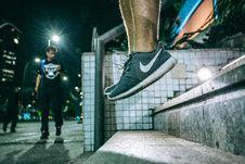 Free Man In Black White Nike Shoes During Nighttime Stock Photo - 82994930