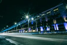 Free Lights Of Cars Driving In City At Night Stock Photos - 82994963