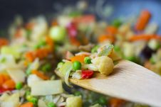 Free Vegetables On Wooden Spoon Royalty Free Stock Photo - 82995665