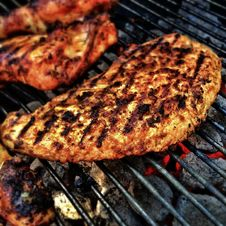 Free Meat On Barbecue Grill Stock Image - 82995771