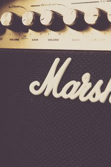 Free Close Up Of Marshall Amplifier Stock Image - 82998891