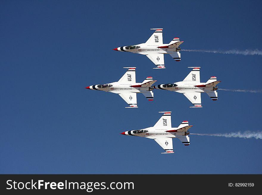 4 Jet Fighter Flying