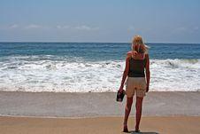 Free Beach Girl Royalty Free Stock Photos - 830328