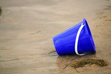 Blue Sand Bucket Stock Images
