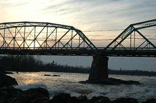Free Bridge On Sunrise Royalty Free Stock Photo - 831805