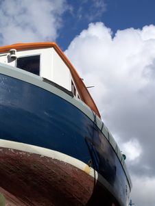 Free Blue Boat Stock Photography - 832002