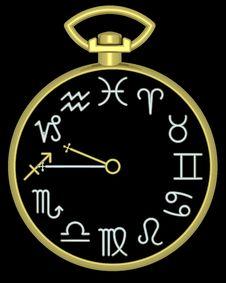 Free Zodiac Sagittarius Clock Stock Image - 832111