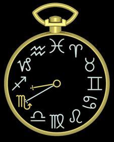 Free Zodiac Scorpio Clock Stock Images - 832114