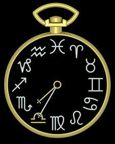 Free Zodiac Libra Clock Royalty Free Stock Image - 832116
