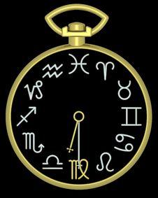 Free Zodiac Virgo Clock Royalty Free Stock Images - 832119