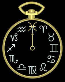 Free Zodiac Pisces Clock Stock Image - 832131