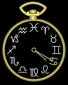 Free Zodiac Cancer Clock Stock Photography - 832132