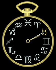 Free Zodiac Taurus Clock Stock Image - 832141