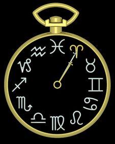 Free Zodiac Aries Clock Stock Images - 832144