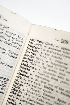 Free Old Dictionary Series Royalty Free Stock Image - 832606