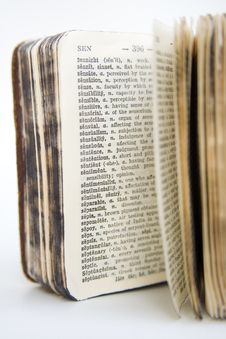 Old Dictionary Series Royalty Free Stock Photo