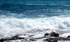Free White Wash From A Stormy Sea Stock Photography - 834072