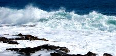 Free Violent Spanish Sea Royalty Free Stock Images - 834149