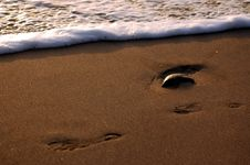Free Footprints Royalty Free Stock Images - 835019