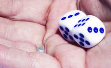 Free Dice In Hand Royalty Free Stock Photography - 835147