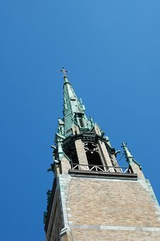 Free Bell-tower Of Church On Sky Stock Images - 835624