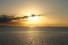 Free SUNSET AT STRADBROKE Royalty Free Stock Images - 836319