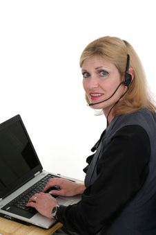Free Attractive Customer Service Operator 3 Stock Images - 836434