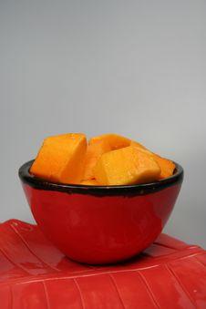 Free Cubed And Spread Mango - Mangifera Indic Stock Image - 836821