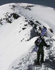 Free Snowboard Mountaineer Royalty Free Stock Photos - 839878