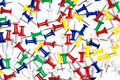 Free Colorful Pins Over The White Background Stock Image - 8300531
