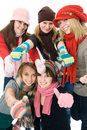 Free Five Attractive Girls Royalty Free Stock Image - 8302326