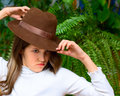 Free Angry Teen Girl In Hat Royalty Free Stock Images - 8305259