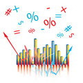 Free Abstract Graph With Sympols Stock Photos - 8305263
