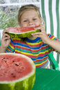 Free Girl With Watermelon Royalty Free Stock Photography - 8309697